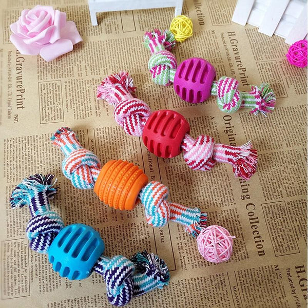 Pet Dog Rope Chew Toys Bone Ball Animal Shape Pets Playing Knot Toy Cotton Teeth Cleaning Toys for Small Pet Puppy