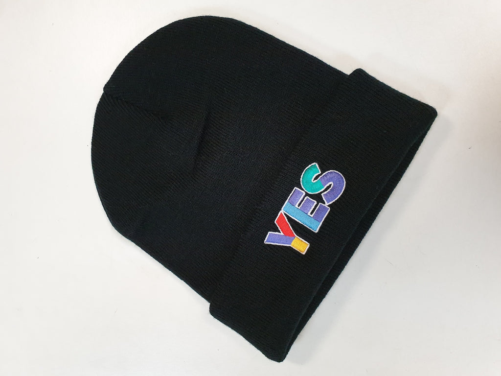 YES Multi Logo Black Beanie