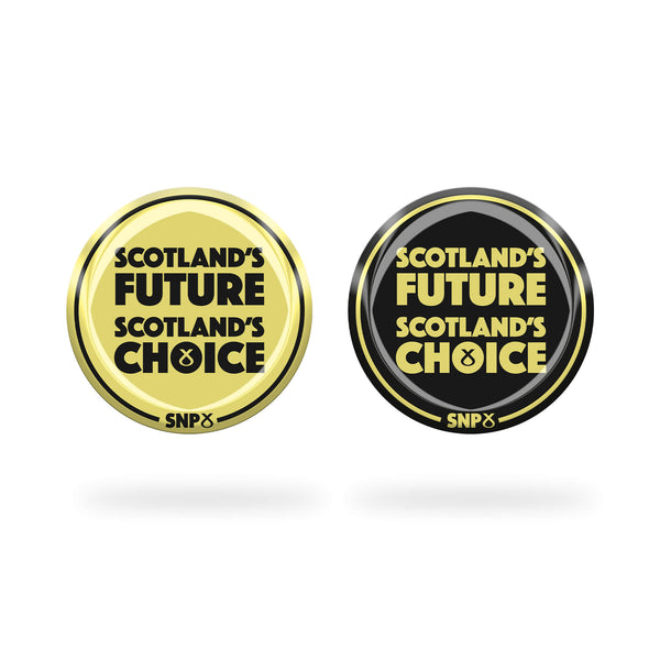 Button Badge Scotland's Future SNP