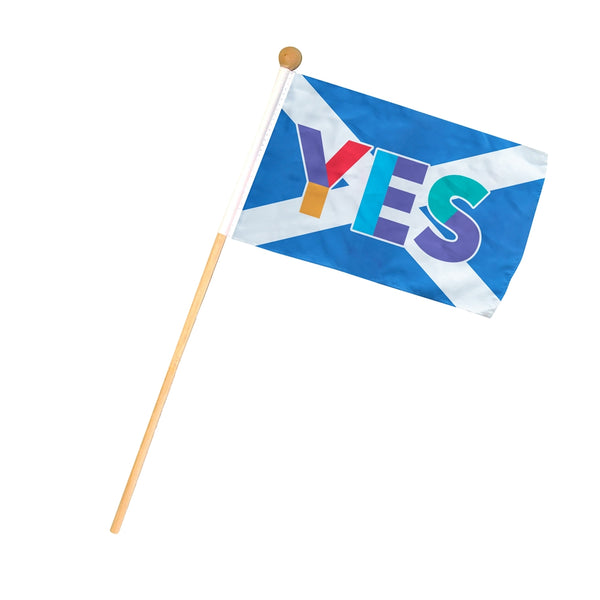 Yes Saltire Handwaving Flag