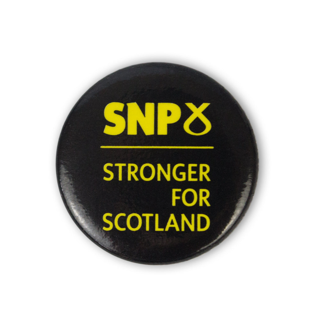 SNP Button Badges - Badge D - Stronger For Scotland (Pack of 100)