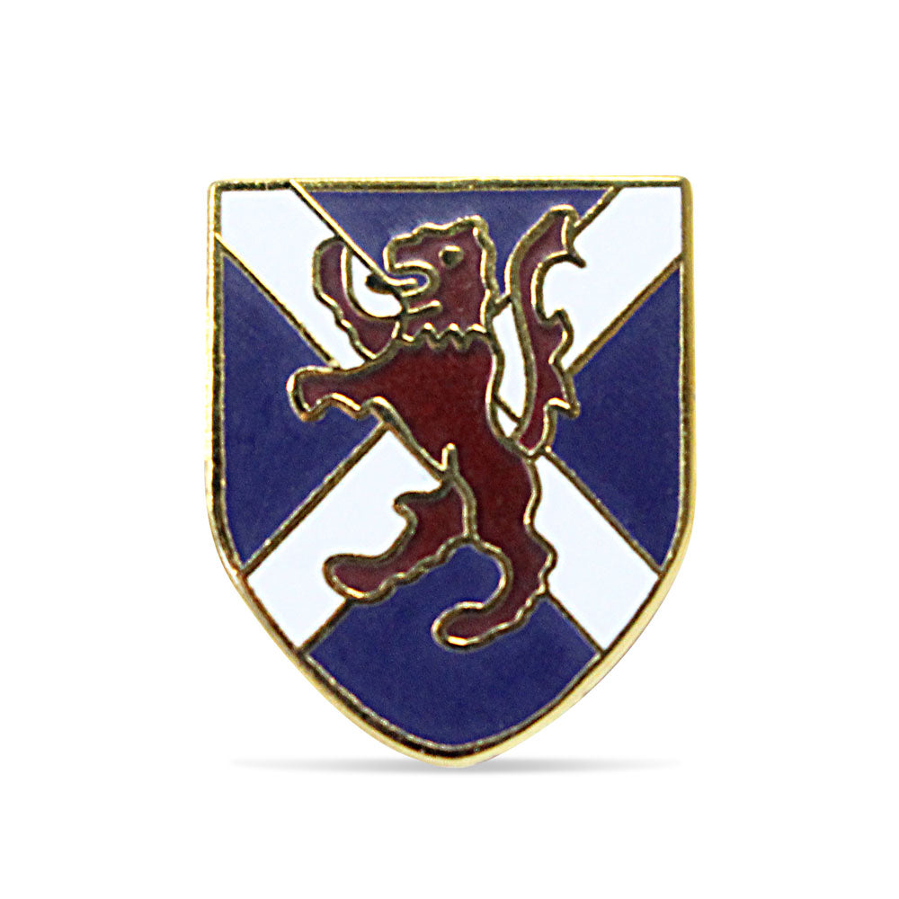 SNP Pin Badge I - Lion Rampant Saltire Shield