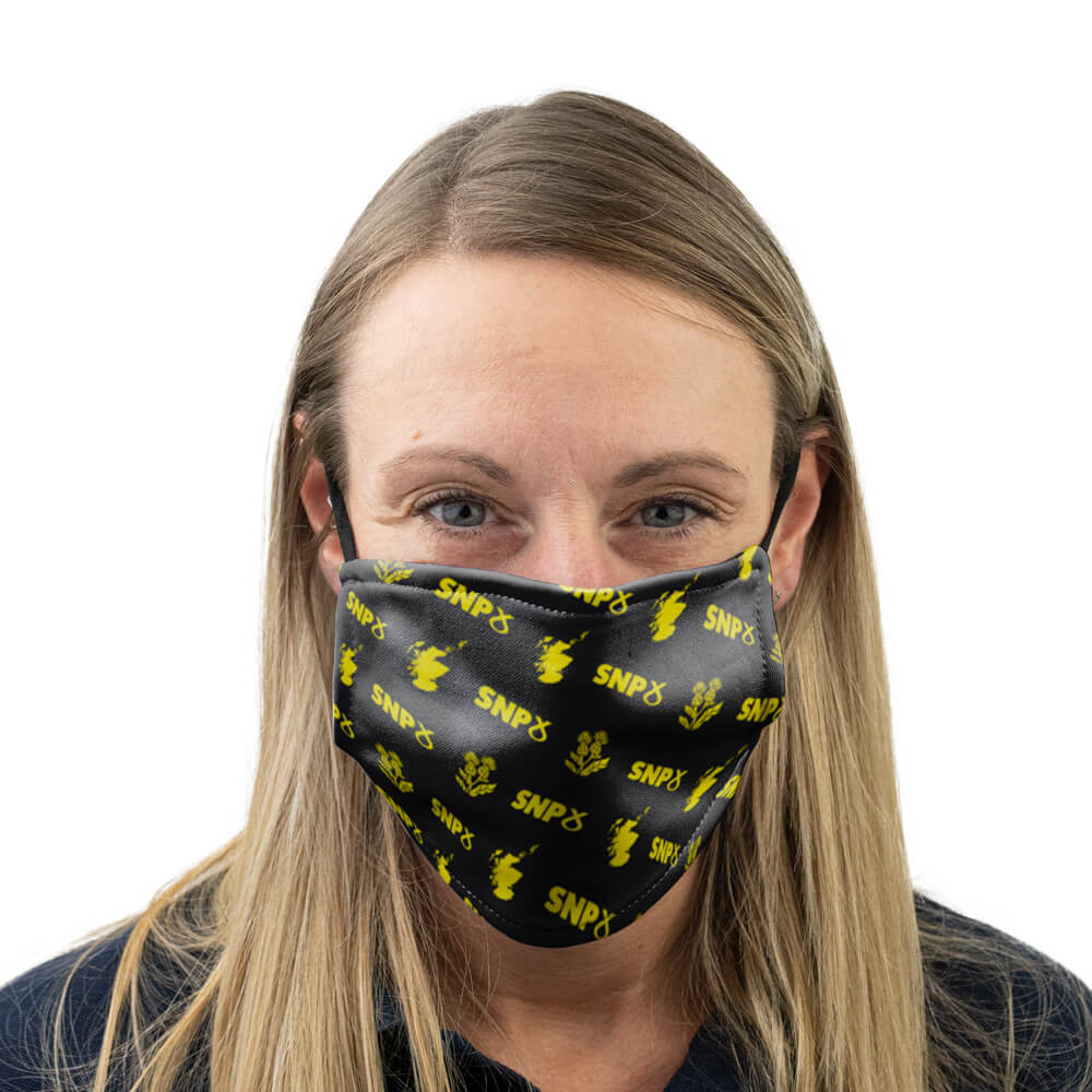 snp logo scotland and thistle face mask