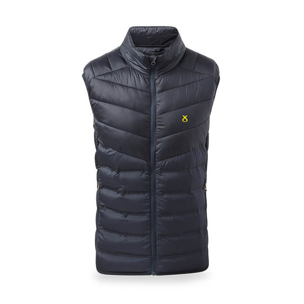 snp embroidered padded gilet