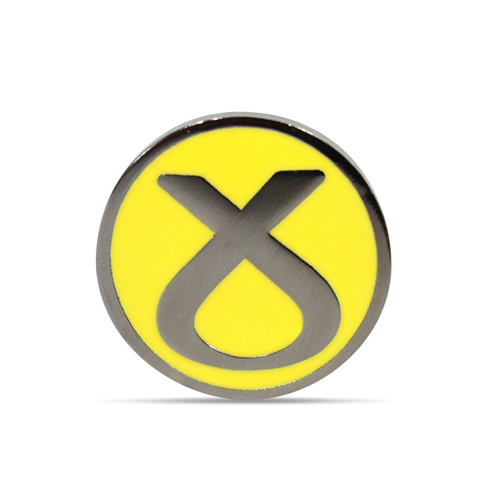 SNP Pin Badge M - Yellow Symbol