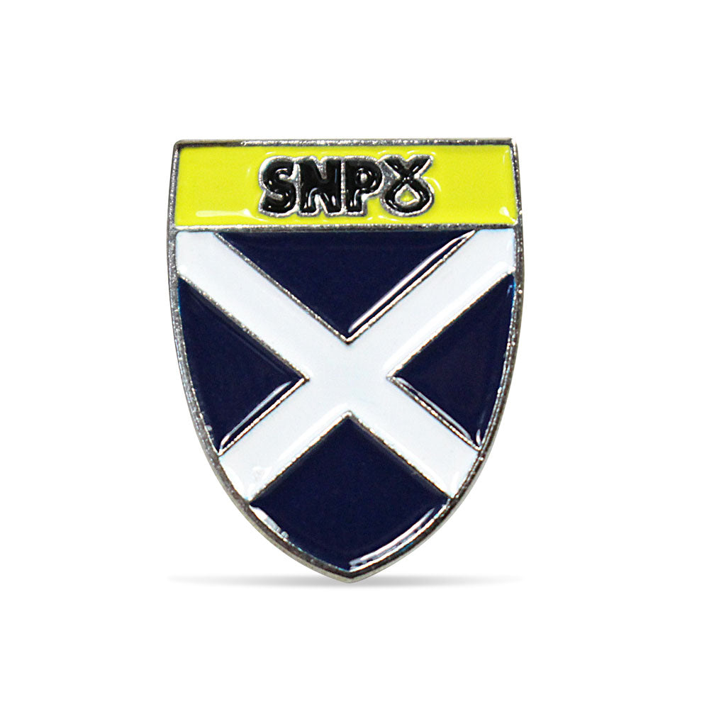 SNP Pin Badge H - SNP Saltire Shield