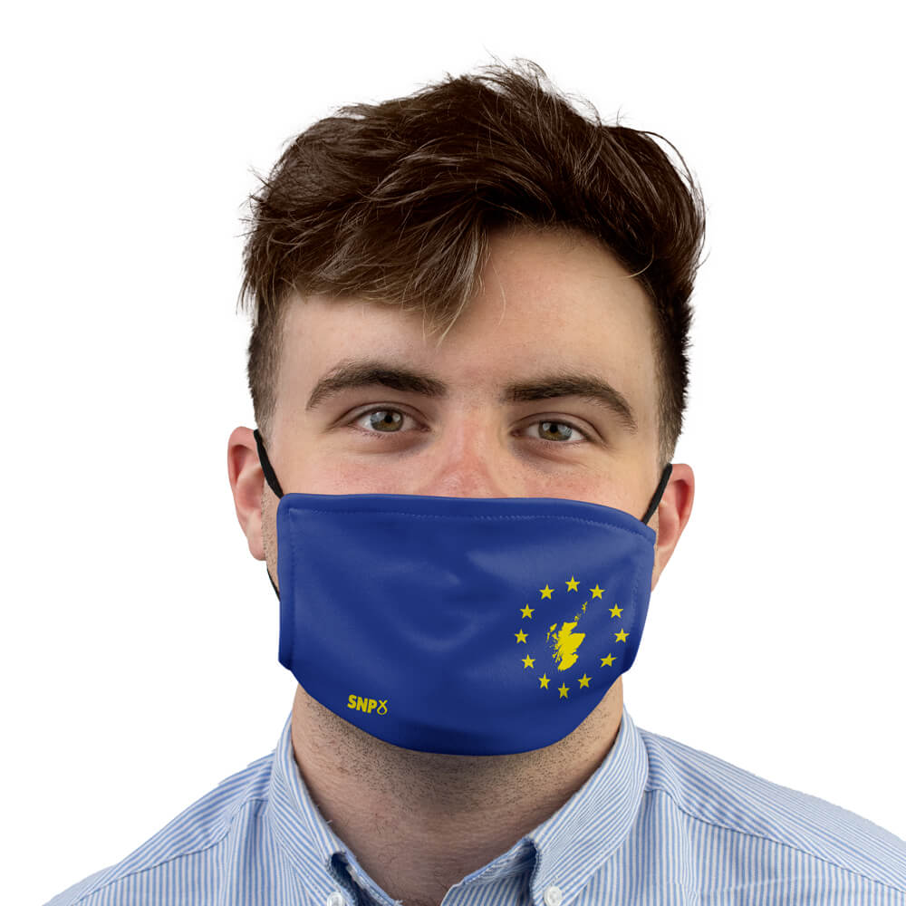 snp scotland in europe face mask