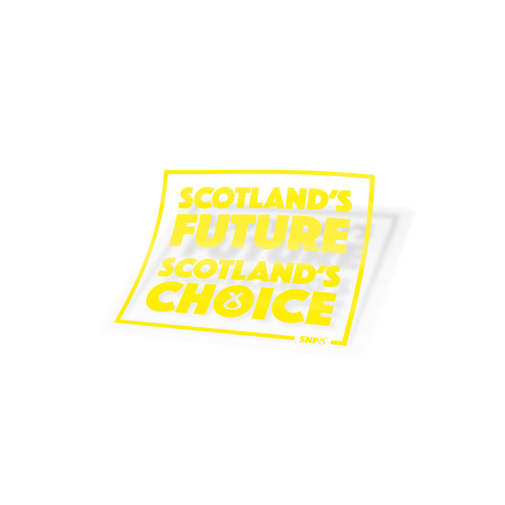 Window Sticker Scotland's Future SNP