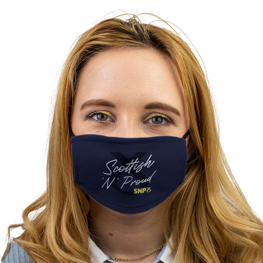 snp scottish n proud face mask