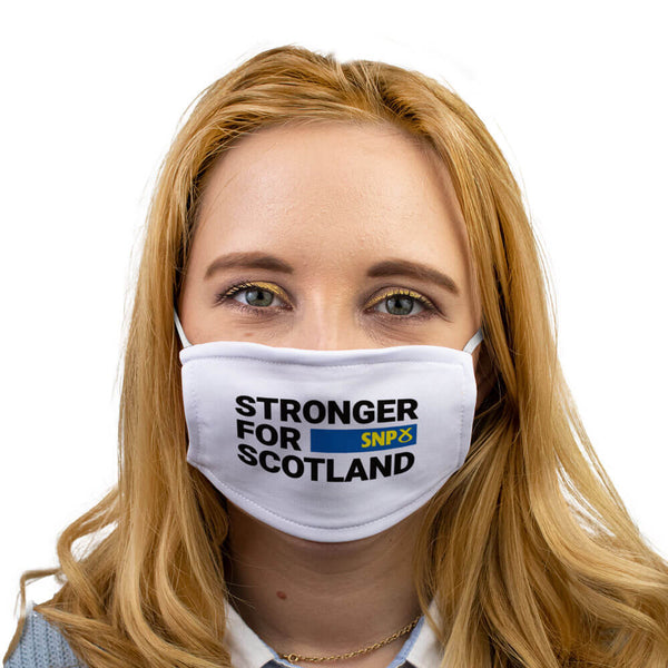 snp sctonger for scotland face mask