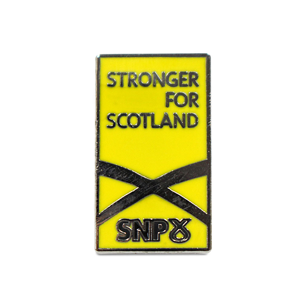SNP Pin Badge J - Stronger For Scotland