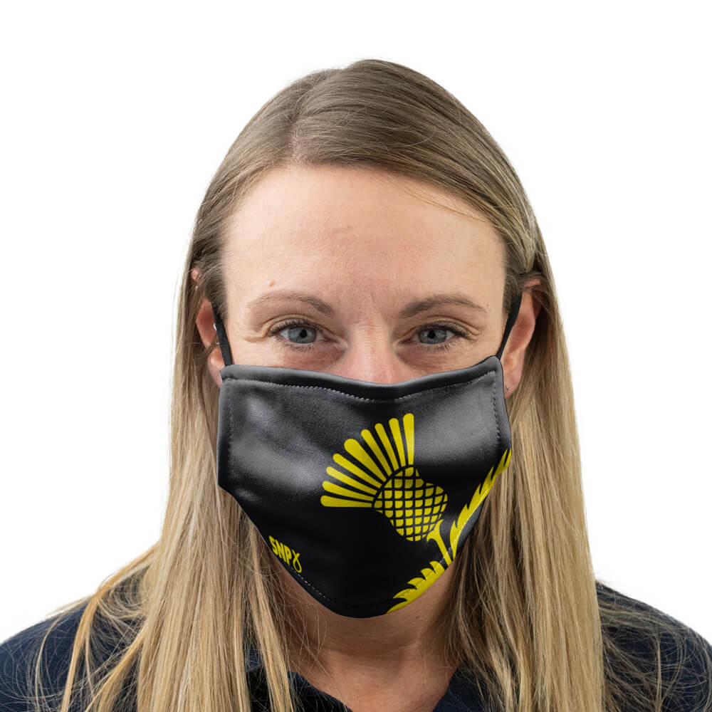snp scottish thistle face mask
