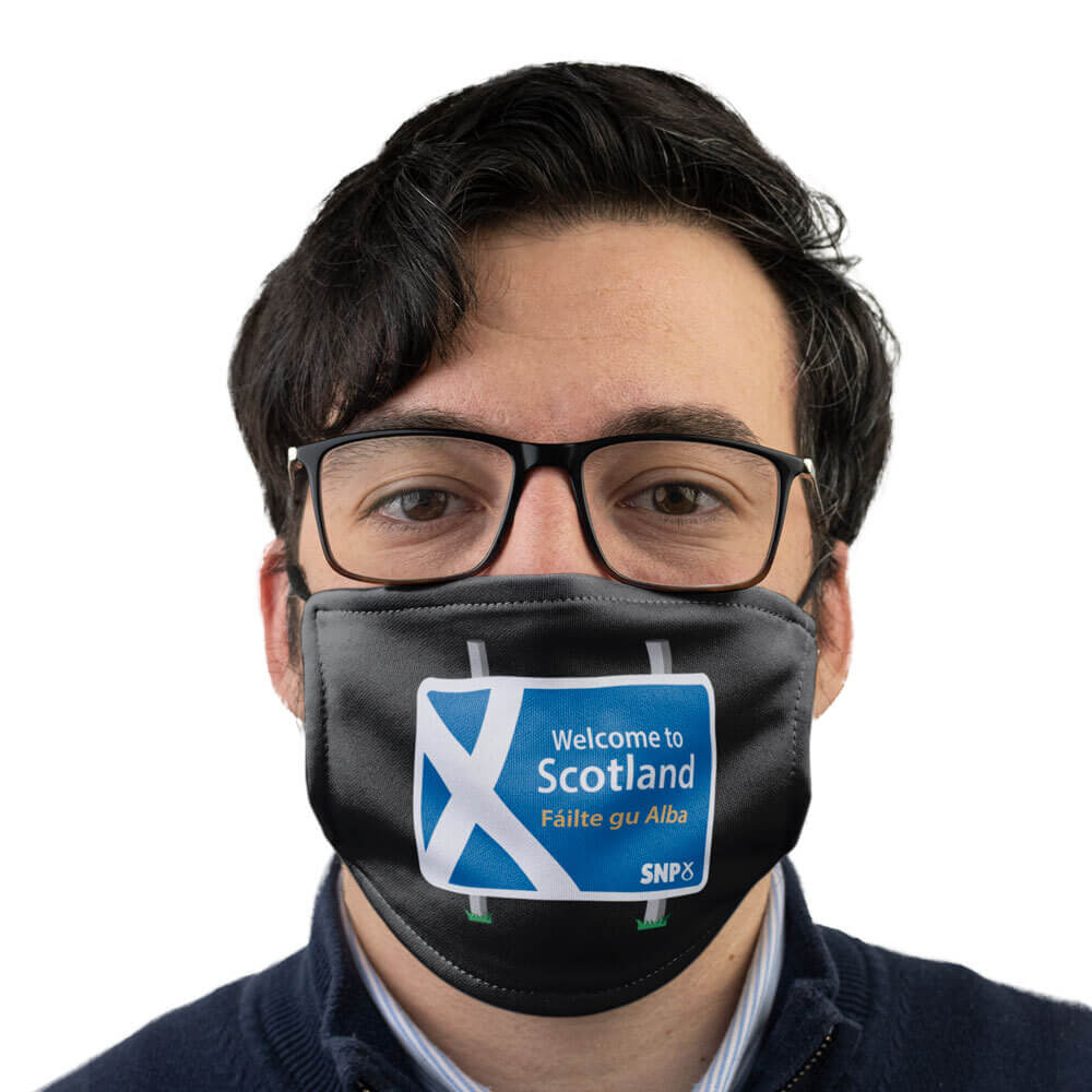 snp welcome to scotland face mask