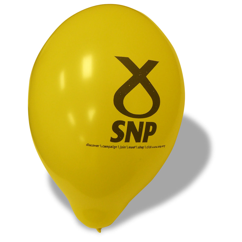 SNP Yellow Symbol Balloons (Pack of 100)