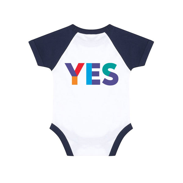 Baby Yes Baseball Bodysuit