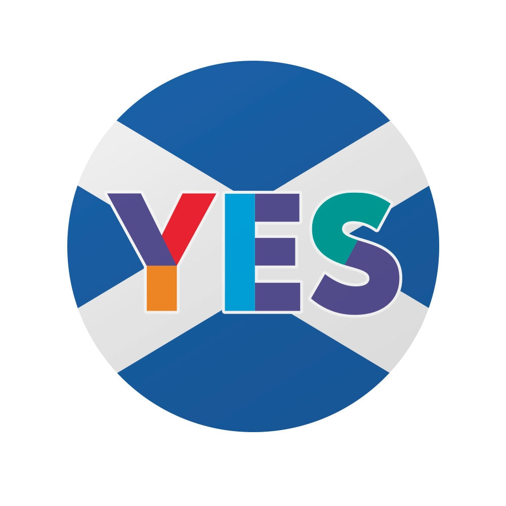 Circular Yes Saltire Window Sticker