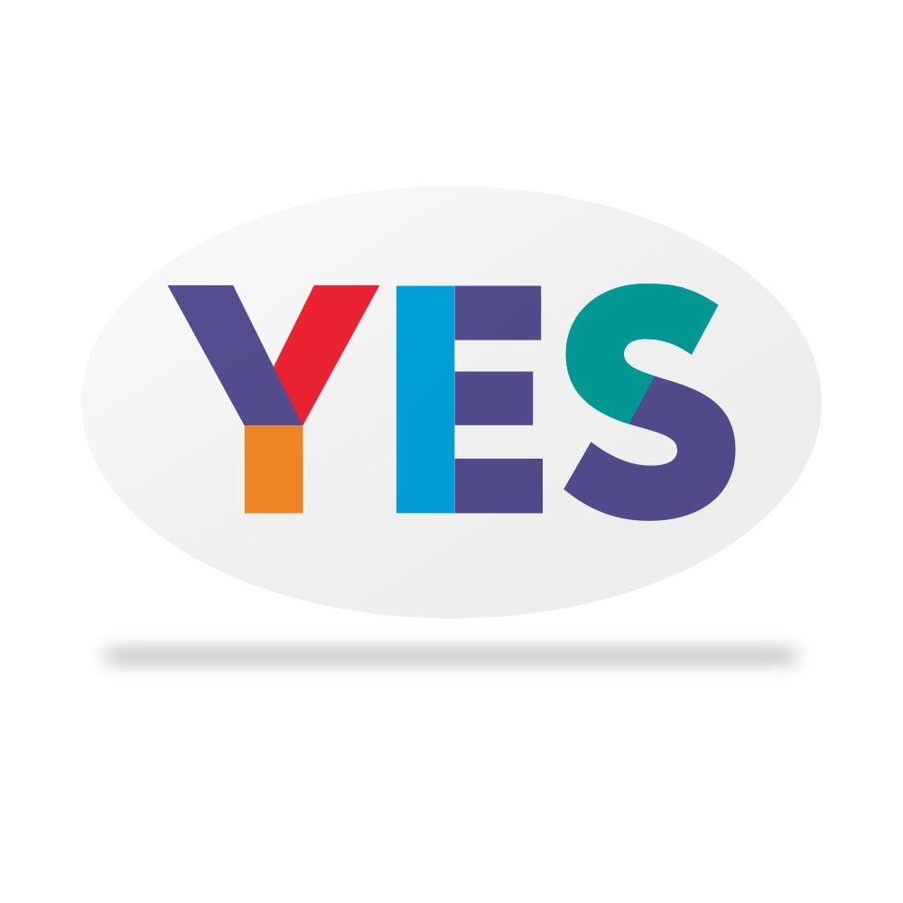 Oval Yes Logo Window Sticker
