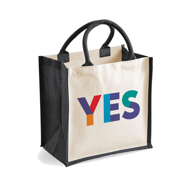 Small Yes Jute Shopper