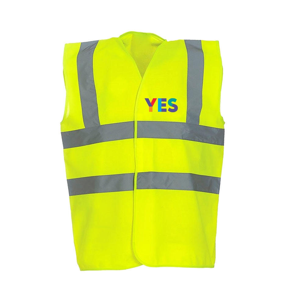 Yellow Yes Hi-Vis Jacket - Front