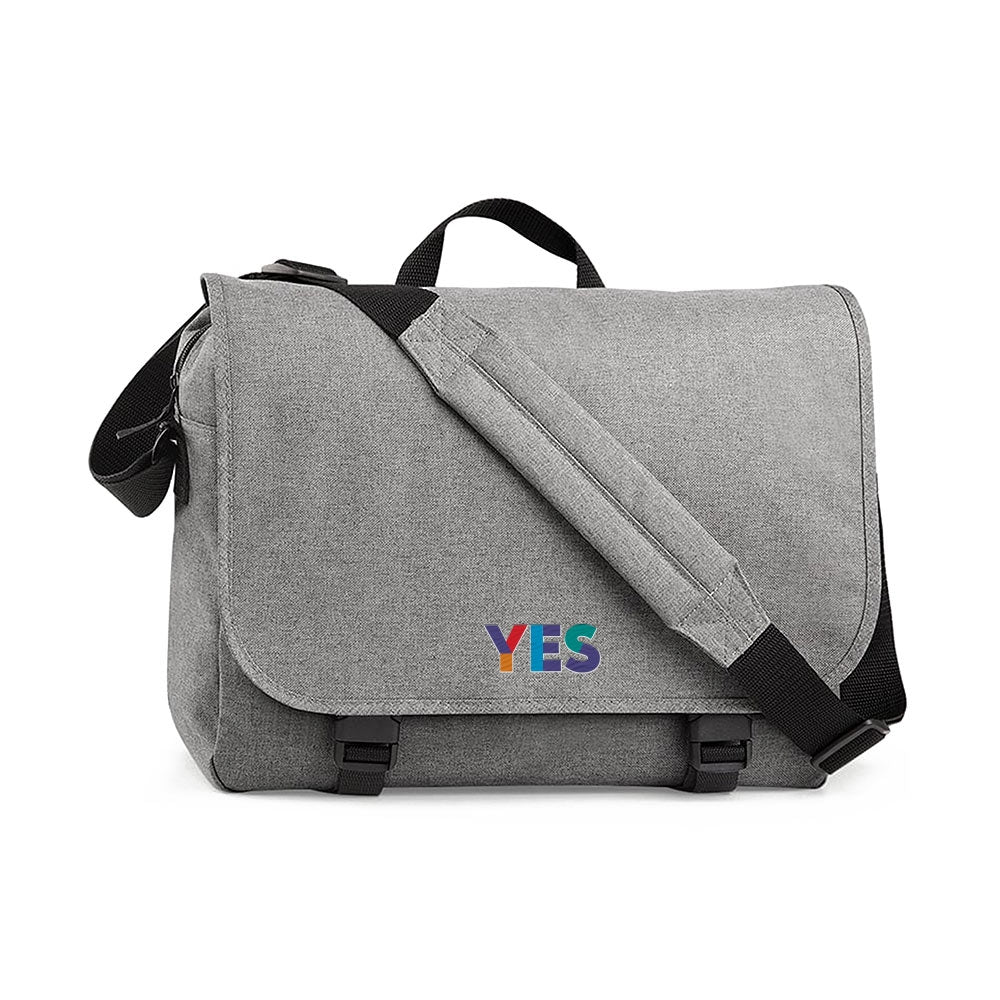 Yes Embroidered Messenger Bag