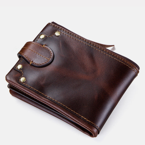 Genuine Leather Vintage Rivet Wallet