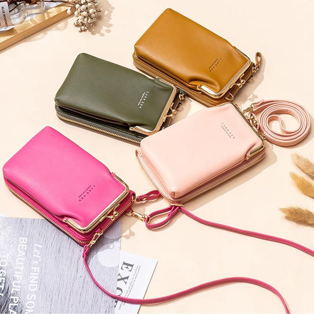 Multifunctional Large Capacity Kiss-Lock Phone Bag