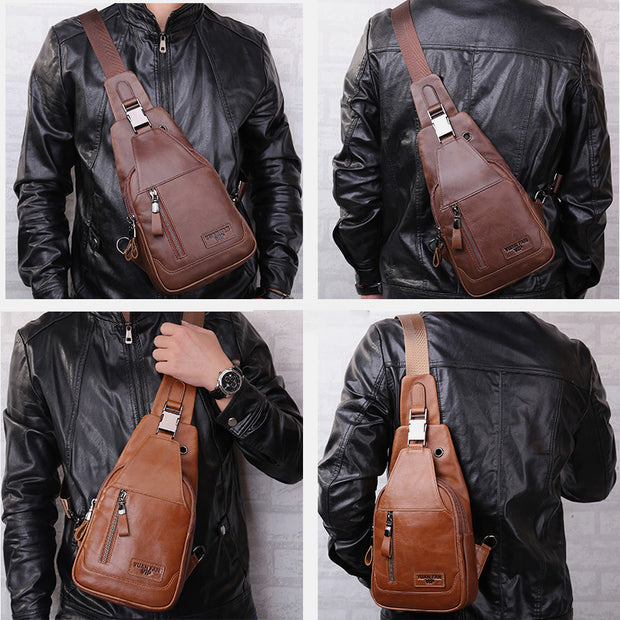 Vintage Leather Anti-theft Sling Bag