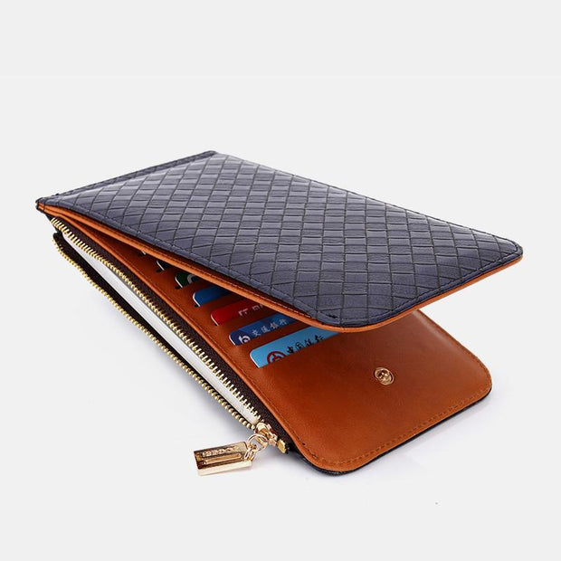 Multifuntional Long Bifold Wallet Card Holder