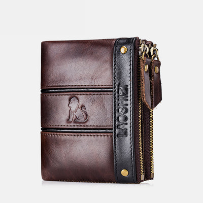 RFID Durable Genuine Leather Wallet