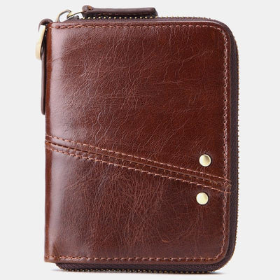 RFID Blocking Leather Multi-Slot Mini Wallet