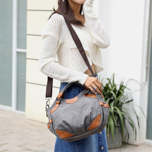 Large Capacity Vintage Shoulder Crossbody Bag