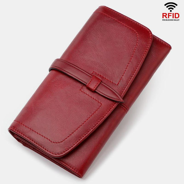 Large Capacity Vintage Genuine Leather Wallet