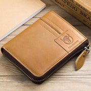 Vintage Large Capacity Leather Zipper Wallet