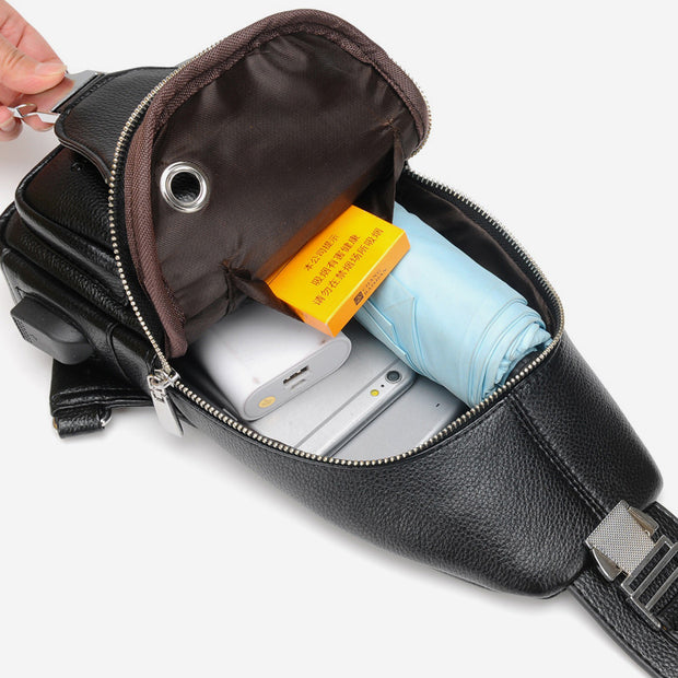 Anti-theft USB Charging Large Capacity Sling Bag