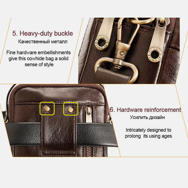 Multifunctional Leather Phone Bag Waist Bag Crossbody Bag