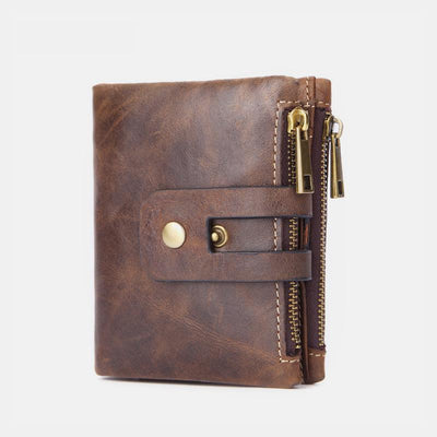 Multifunctional Double Zipper Vintage Wallet