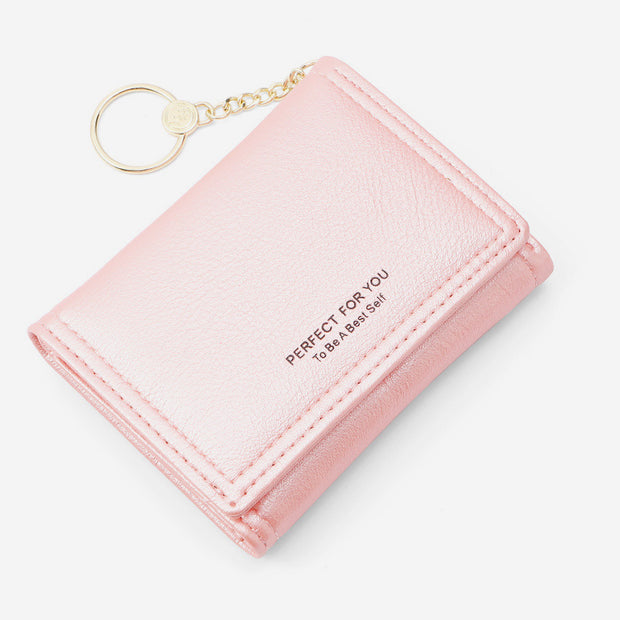 Solid Color Trifold Mini Wallet