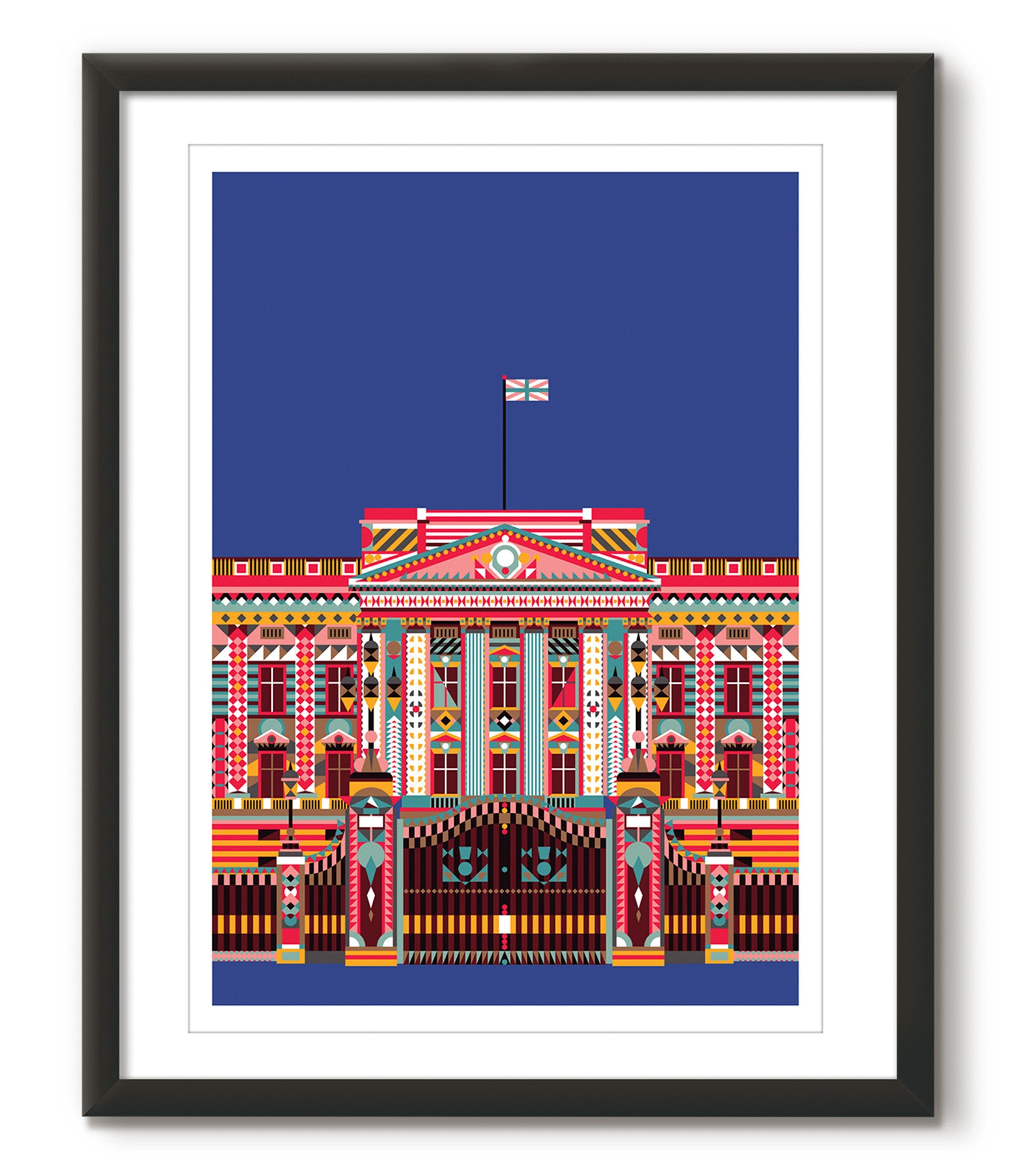 Multicolour Buckingham Palace - Navy Blue