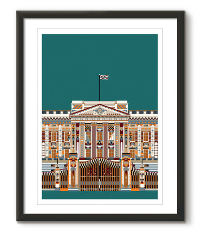 Multicolour Buckingham Palace - Green - Great Little Print Store