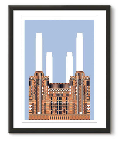 Multicolour Battersea Power Station - Blue - Great Little Print Store