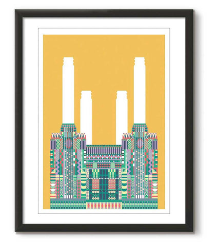 Multicolour Battersea Power Station - Yellow - Great Little Print Store