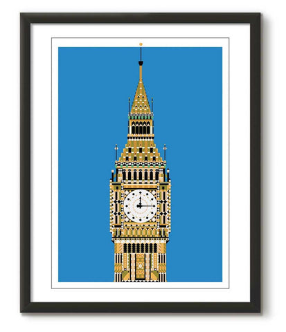 Multicolour Big Ben - Blue - Great Little Print Store