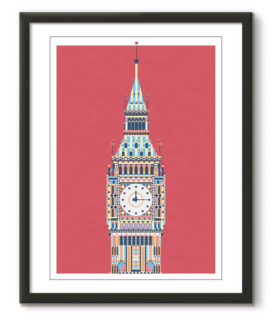 Multicolour Big Ben - Red