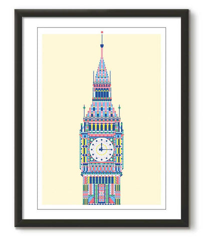 Multicolour Big Ben - Cream - Great Little Print Store