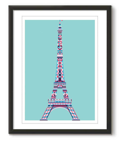 Multicolour Eiffel Tower - Tiffany Blue - Great Little Place Store - 1