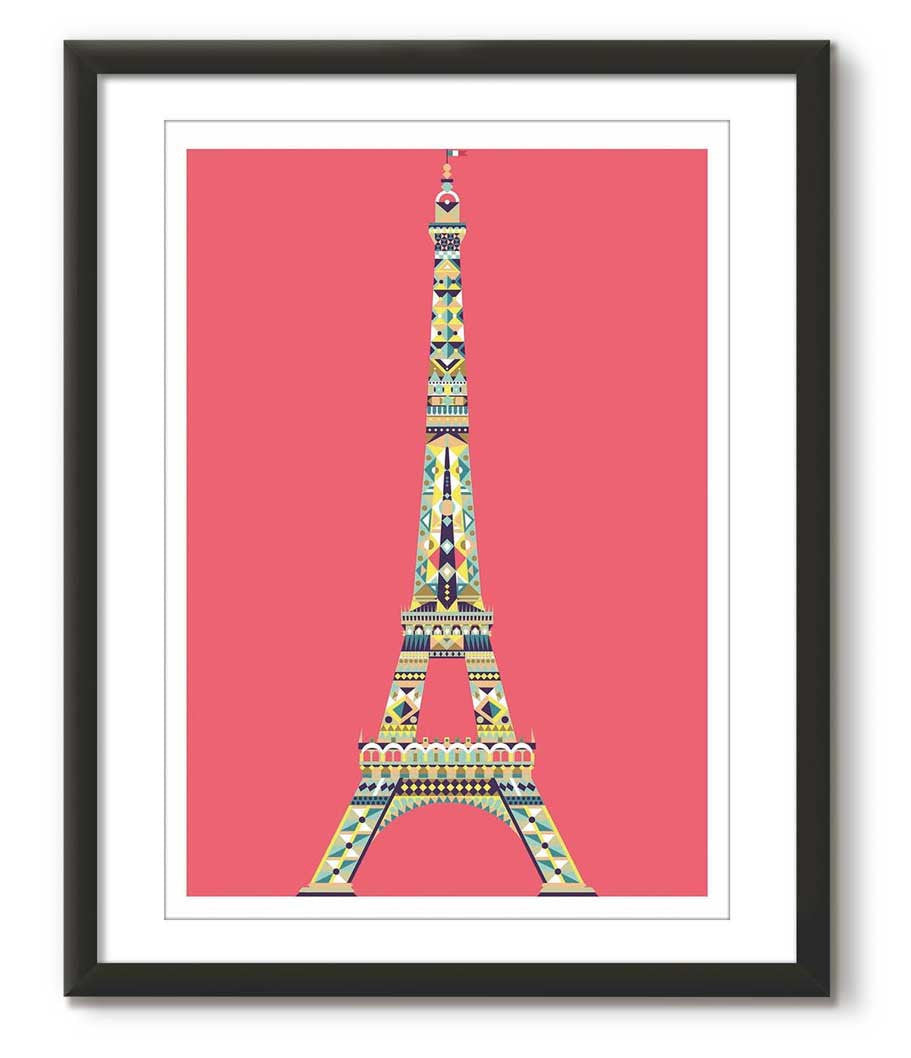 Multicolour Eiffel Tower - Red
