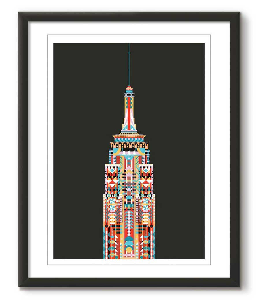 Multicolour Empire State Building - Black