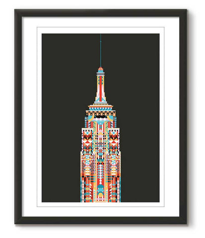 Multicolour Empire State Building - Black - Great Little Place Store - 1