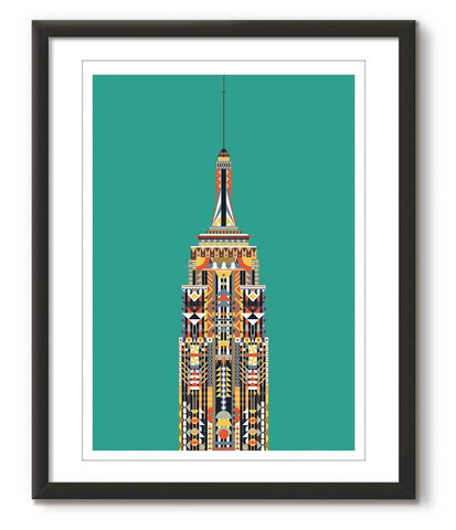 Multicolour Empire State Building - Green - Great Little Print Store