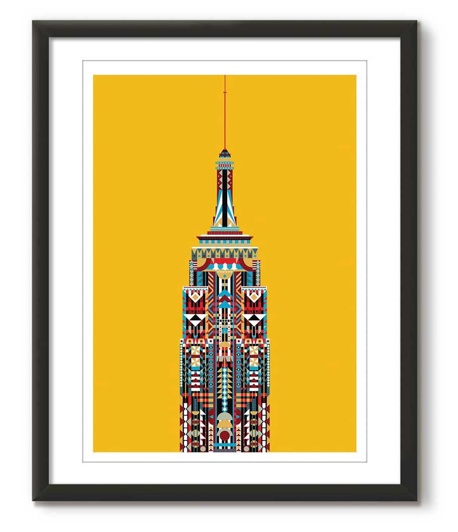 Multicolour Empire State Building - Yellow
